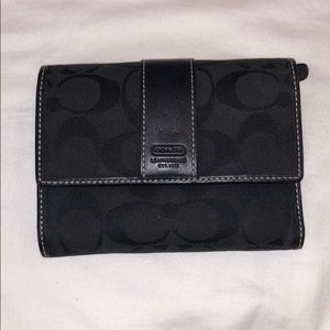 Black on black coach wallet